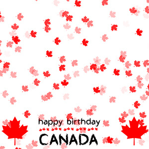 Happy Birthday Canada Flag Background