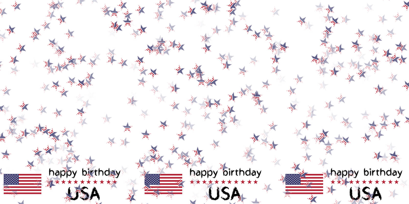 Happy Birthday USA Flag Background