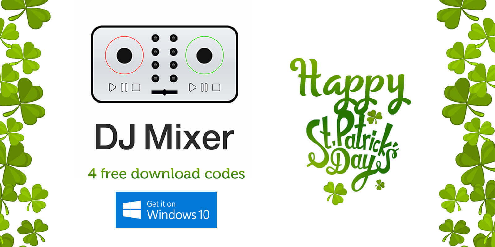 four free download codes for DJ Mixer App